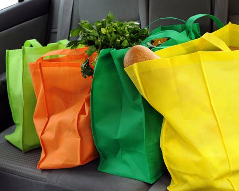 groceries in car