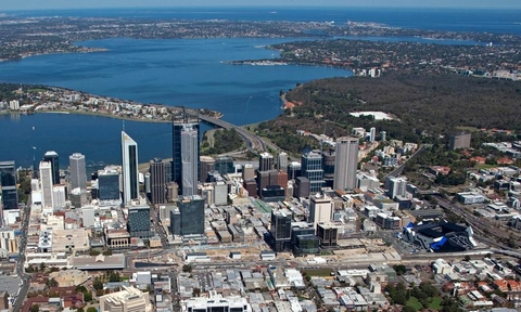 Aerial view of Perth City Link