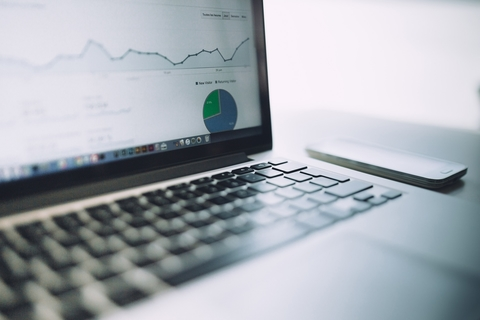 Computer showing analytics