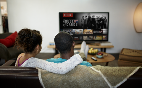 Netflix living room couple