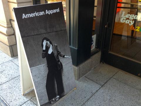 American Apparel sign