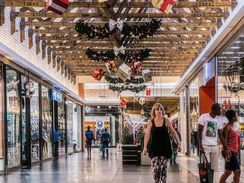 holiday shopping mall