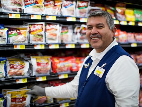Walmart associate