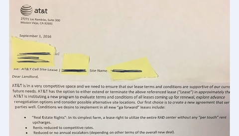 Revealed Att Sending Letters To Tower Owners Asking For Rents