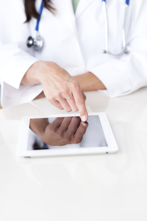 Doc with tablet