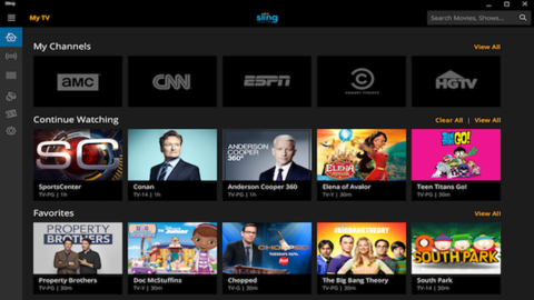 Sling TV Windows