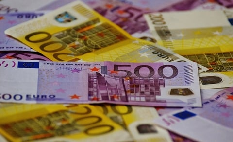 Generic shot of Euro notes