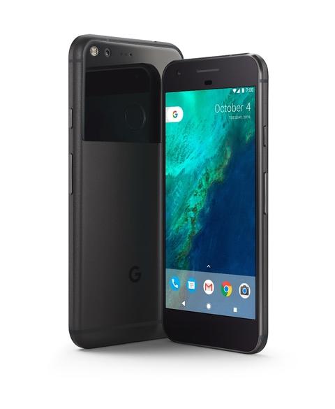 EE's black Google Pixel smartphone