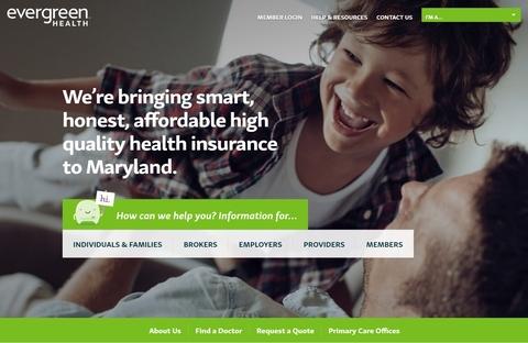Evergreen Health webpage