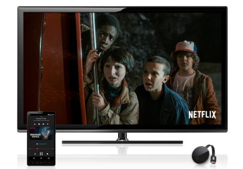 Netflix's Stranger Things seen on Chomecast Ultra. Image: Netflix
