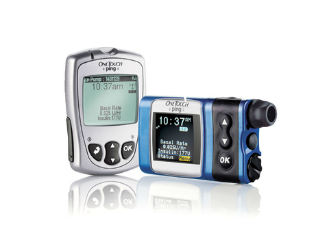 Animas OneTouch Ping insulin system comprising meter remote and insulin pump