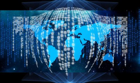 Global data network. Image: Pixabay