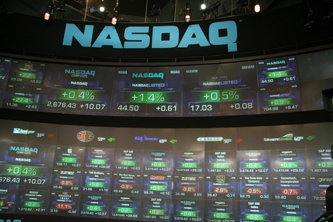 Screen of Nasdaq stock tickers