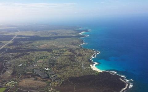 Aerial view of Hawaii Island