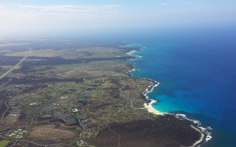 Aerial view of Hawaii Island