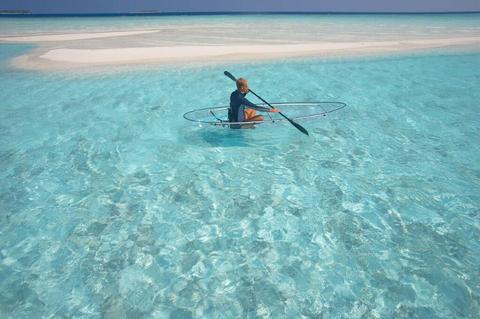 Baros Maldives Glass Bottom Canoe