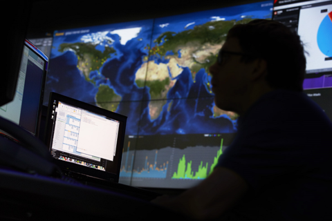 Akamai's NOCC (network operations control center) in Cambridge, Mass. Image: Akamai