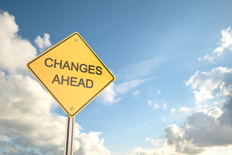 """Sign that says """"changes ahead"""""""