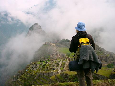 Girl Watching Machu Picchu