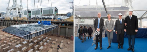 Seabourn Ovation Keel Laying