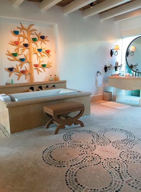 Las Ventanas Al Paraiso's Two-Bedroom Beachfront Signature Villa has a bath butler and a customized bath amenity menu.