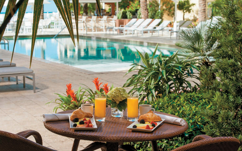 Begin your Florida journey with an overnight at Naples' Edgewater Beach Hotel and fuel up with breakfast by the hotel's pool the next morning before hitting the road.