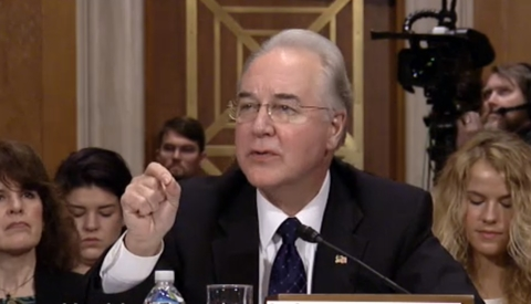 Tom Price speaks at hearing