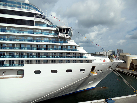 Costa Deliziosa docked in Port Everglades