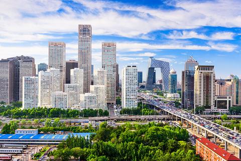 The Beijing skyline