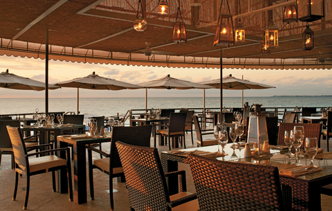 Grand Cayman Marriott Beach Resort's newly revamped oceanfront restaurant, the Veranda and Vista Bar