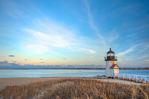 Brant Point Lighthouse, Nantucket, MA - grantreig/iStock/Getty Images Plus/Getty Images