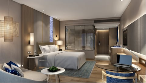 Room in the new Renaissance Hotel located in Thailand