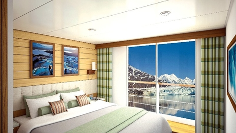 Category 4 Stateroom National Geographic Quest Courtesy of Lindblad Expeditions-National Geographic for Editorial Use Only Rendering