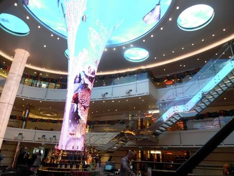 Atrium of the Carnival Vista