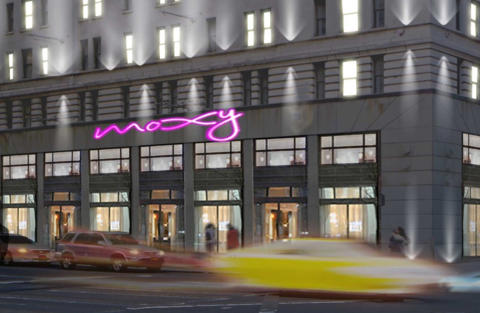 Moxy Times Square Sign