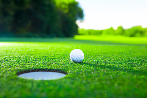 Golf ball and hole - Deklofenak/iStock/Getty Images Plus/Getty Images