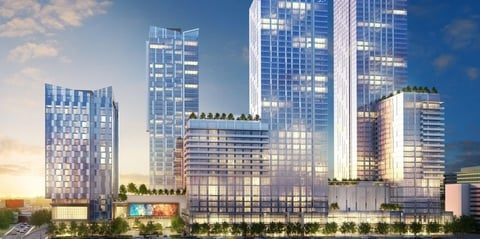 The 350-room, 18-story flagship Hotel Indigo Los Angeles Downtown hotel is located at 899 Francisco Street.