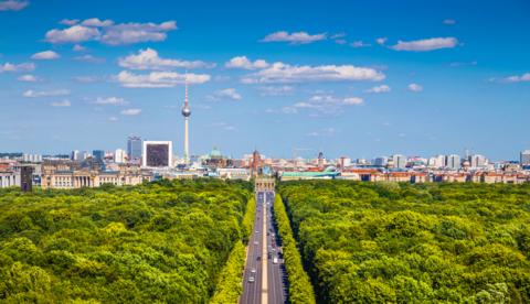 Berlin over Tiergarten Park