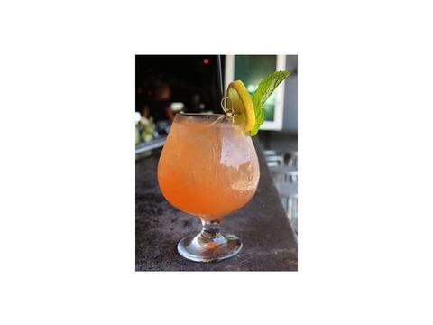 Refreshing blood orange inspired cocktail