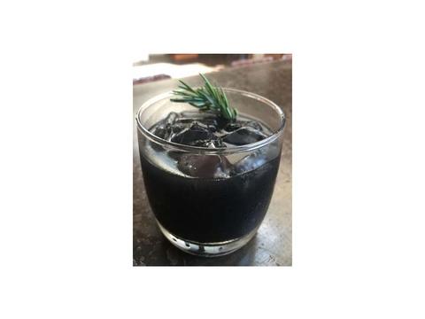 Black rum cocktail