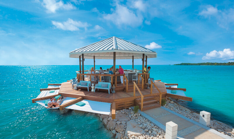 b17319d5e The over-water bar and hammocks at Sandals South Coast will soon be joined  by over-water Honeymoon Bungalows.