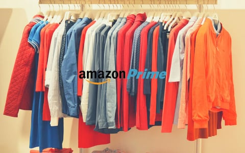 picture of closet with Amazon Prime logo