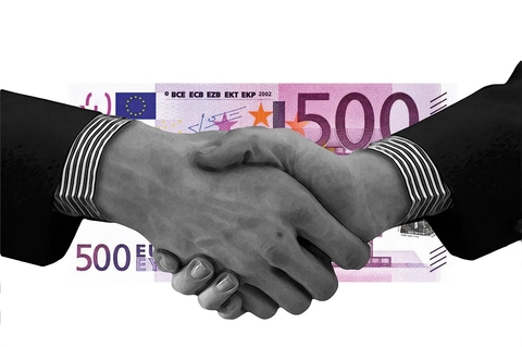Euro and Handshake Image
