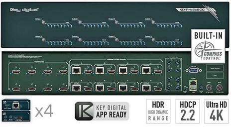 KD-Pro6x6CC, KD-Pro8x8CC, Matrix Switchers, Key Digital