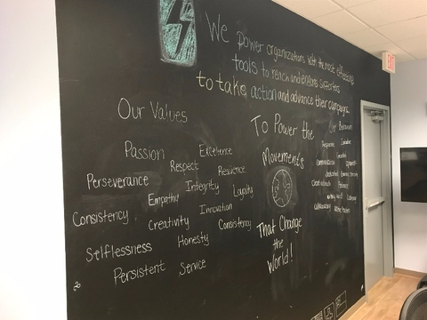 Values wall