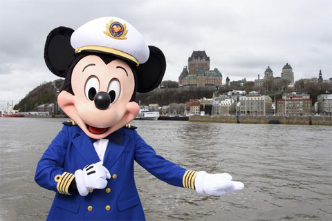 Mickey Mouse standing in Quebec City
