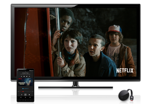 Netflix's Stranger Things seen on Chomecast Ultra. Image: Netflix