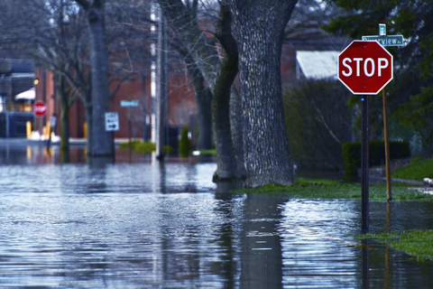 View of a flooded street