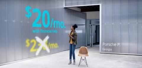 Open enrollment ad screengrab
