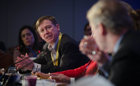 John Hickenlooper speaking on panel